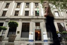El edificio de la Bolsa de Valores de Sao Paulo, novb 17 2008. La bolsa de Brasil subía el viernes a media sesión ante la divulgación de resultados corporativos y luego de alternar más temprano entre leves alzas y bajas.  REUTERS/Rodrigo Paiva