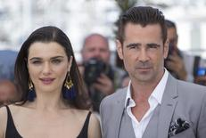 "Cast members Rachel Weisz (L) and Colin Farrell pose during a photocall for the film ""The Lobster"" in competition at the 68th Cannes Film Festival in Cannes, southern France, May 15, 2015. REUTERS/Yves Herman"