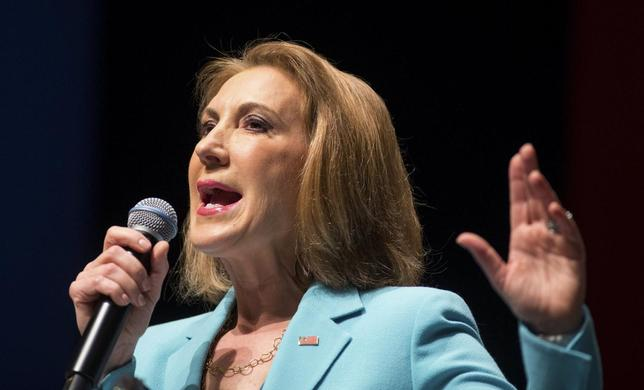 Former Hewlett-Packard Co Chief Executive and Republican U.S. presidential candidate Carly Fiorina speaks during the Freedom Summit in Greenville, South Carolina May 9, 2015. REUTERS/Chris Keane