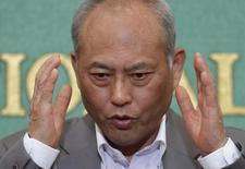 Governador de Tóquio, Yoichi Masuzoe, em entrevista coletiva. 06/06/2014  REUTERS/Yuya Shino