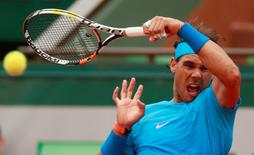French Open - Roland Garros, Paris, France - 26/5/15. Spain's Rafael Nadal in action during the first round. Action Images via Reuters / Jason Cairnduff Livepic