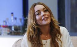 Atriz Lindsay Lohan durante peça em Londres.  29/11/2015.  REUTERS/Suzanne Plunkett
