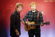 Musician Ed Sheeran poses with his wax figure at Madame Tussauds museum in the Manhattan borough of New York May 28, 2015. REUTERS/Shannon Stapleton