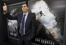 "Director of the movie Brad Peyton poses at the premiere of ""San Andreas"" in Hollywood, California May 26, 2015.  REUTERS/Mario Anzuoni"