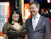 Author E.L. James and husband Niall Leonard (R) arrive for the screening of the movie 'Fifty Shades of Grey' at the 65th Berlinale International Film Festival in Berlin, in this file photo taken February 11, 2015. REUTERS/Hannibal Hanschke/Files