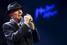 Canadian singer-songwriter Leonard Cohen performs during the first night of the 47th Montreux Jazz Festival, Switzerland in this July 4, 2013 file photo.  REUTERS/Valentin Flauraud/Files