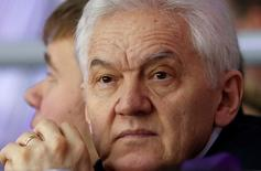 Russian businessman Gennady Timchenko attends the men's qualification ice hockey game between Russia and Norway  at the Sochi 2014 Winter Olympic Games, February 18, 2014.  REUTERS/Grigory Dukor (RUSSIA  - Tags: OLYMPICS SPORT ICE HOCKEY BUSINESS)   - RTX191EY