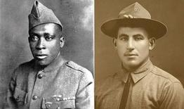 U.S. Army Sgts.Henry Johnson (L) and William Shemin (R) are pictured in these undated photographs released on June 2, 2015. REUTERS/U.S. Army/Handout via Reuters
