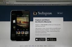 La página de inicio de Instagram vista en la pantalla de un ordenador en Pasadena, EEUU, ago 14 2013. Instagram dijo el martes que está tomando medidas para que sus anuncios publicitarios estén disponibles para todo tipo de empresas, y no solo para unas marcas seleccionadas.   REUTERS/Mario Anzuoni