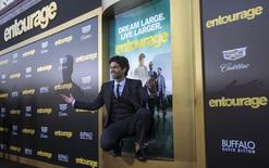 "Cast member Adrian Grenier poses at the premiere of ""Entourage"" at the Regency Village theatre in Los Angeles, California June 1, 2015.  REUTERS/Mario Anzuoni"