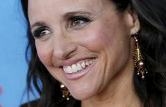 "Actress Julia Louis-Dreyfus poses as she arrives for the New York Premiere of the fourth season of the HBO television series ""VEEP"" in New York City April 6, 2015.   REUTERS/Mike Segar"