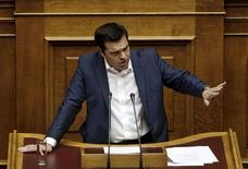 Primeiro-ministro da Grécia, Alexis Tsipras, durante sessão parlamentar em Atenas.  05/06/2015   REUTERS/Alkis Konstantinidis
