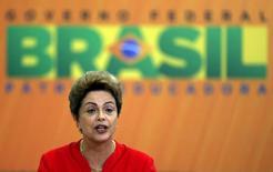 Presidente Dilma Rousseff na cerimônia de lançamento do Plano de Investimento em Logística. 09/06/2015  REUTERS/Bruno Domingos