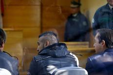Jogador chileno Arturo Vidal em corte de San Bernardo, perto de Santiago. 17/06/2015 REUTERS/Ivan Alvarado