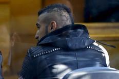 Jogador Arturo Vidal em tribunal em San Bernardo  17/6/2015 REUTERS/Ivan Alvarado