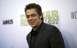 """Ator Benicio Del Toro no tapete vermelho de """"Escobar: Paraíso Perdido""""em Los Angeles. 22/06/2015 REUTERS/Mario Anzuoni"""