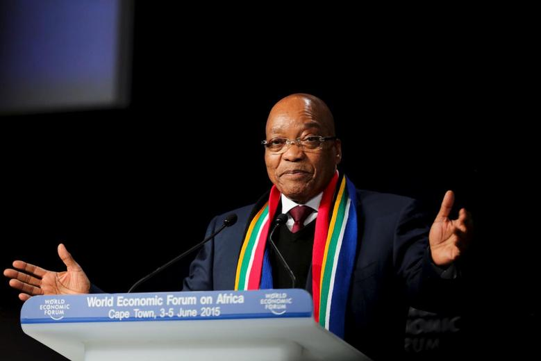 South African President Jacob Zuma speaks at the opening plenary session of the World Economic Forum (WEF) on Africa in Cape Town, June 4, 2015. Reuters/Sumaya Hisham