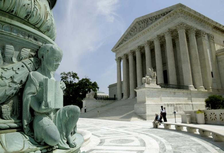The U.S. Supreme Court is pictured in Washington June 8, 2015. The Court on Monday struck down a law that would allow American citizens born in Jerusalem to have Israel listed as their birthplace on passports. REUTERS/Gary Cameron