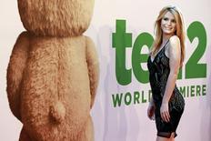 """Atriz Bella Thorne no tapete vermelho de """"Ted 2"""" em Nova York . 24/06/2015 REUTERS/Shannon Stapleton"""