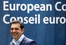 Premiê grego, Alexis Tsipras, deixa a sede do Conselho Europeu em Bruxelas. 26/06/2015  REUTERS/Yves Herman