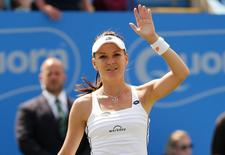 Aegon International - Devonshire Park, Eastbourne - 26/6/15. Poland's Agnieszka Radwanska celebrates winning her semi final match. Action Images via Reuters / Henry Browne Livepic