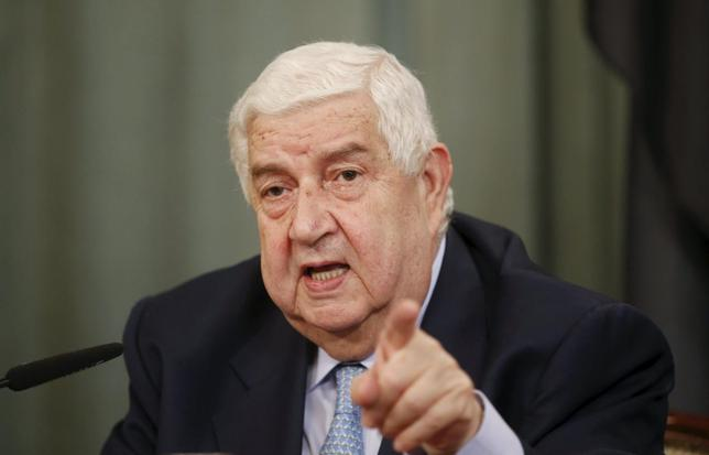 Syrian Foreign Minister Walid al-Muallem attends a news conference after a meeting with Russian Foreign Minister Sergei Lavrov in Moscow, Russia, June 29, 2015.  REUTERS/Maxim Zmeyev