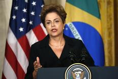 Presidente Dilma Rousseff durante entrevista coletiva na Casa Branca, em Washington. 30/06/2015 REUTERS/Kevin Lamarque