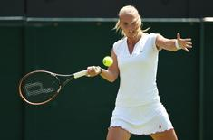 Tennis - Wimbledon - All England Lawn Tennis & Croquet Club, Wimbledon, England - 1/7/15 Women's Singles - Holland's Richel Hogenkamp in action during the second round Mandatory Credit: Action Images / Tony O'Brien Livepic EDITORIAL USE ONLY.