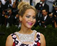 Atriz Jennifer Lawrence em evento no Museu Metropolitan em Nova York.  4/5/2015.   REUTERS/Lucas Jackson