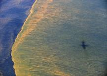 Вид на побережье Алабамы после разлива нефти в Мексиканском заливе 6 мая 2010 года. Нефтяная компания BP заплатит правительству США и пяти штатов $18,7 миллиарда в виде штрафов за разлив нефти в Мексиканском заливе в 2010 году. REUTERS/Mass Communication Specialist 1st Class Michael B. Watkins/U.S. Navy/Handout