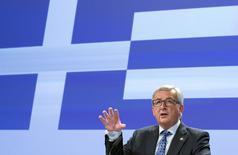 El presidente de la Comisión Europea, Jean-Claude Juncker, dijo el martes al Parlamento Europeo que el Gobierno griego debe realizar propuestas para resolver su crisis de deuda. En la imagen, Juncker el 29 de junio de 2015 en Bruselas.  REUTERS/Yves Herman