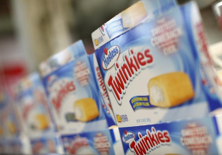 Boxes of ''Twinkies'' are seen at a plant in Schiller Park, Illinois, July 15, 2013. REUTERS/Jim Young