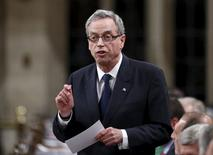 Canada's Finance Minister Joe Oliver speaks during Question Period in the House of Commons on Parliament Hill in Ottawa, Canada, June 17, 2015. REUTERS/Chris Wattie