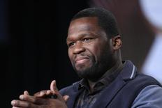 """Produtor executivo e ator Curtis """"50 Cent"""" Jackson durante evento em Pasadena, na Califórnia, Estados Unidos, em janeiro. 09/01/2015 REUTERS/David McNew"""