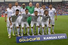 Jul 13, 2015; Kansas City, MO, USA; USA players pose for a photo prior to their game against Panama in the first half during CONCACAF Gold Cup group play at Sporting Park. Mandatory Credit: Peter G. Aiken-USA TODAY Sports