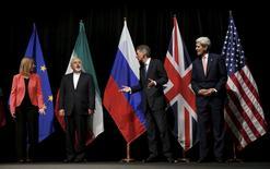 Autoridades falam sobre acordo nuclear com Irã em Viena.  14//7/2015.  REUTERS/Carlos Barria