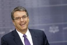 World Trade Organization (WTO) Director-General Roberto Azevedo smiles as he speaks during a news conference in Riga March 24, 2015. REUTERS/Ints Kalnins