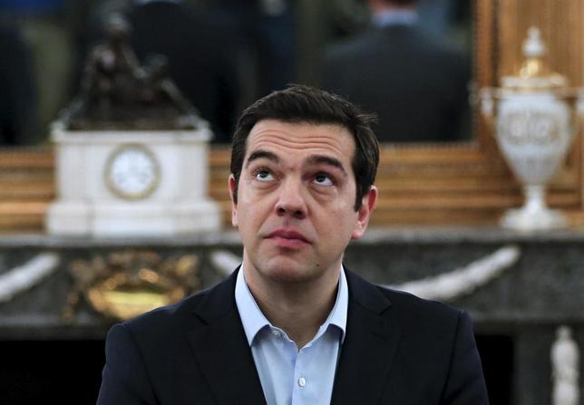 Greek Prime Minister Alexis Tsipras looks on during a swearing in ceremony of members of his government at the Presidential Palace in Athens, Greece July 18, 2015. REUTERS/Alkis Konstantinidis