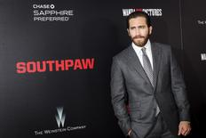 """Actor Jake Gyllenhaal attends the premiere of """"Southpaw"""" in New York July 20, 2015. REUTERS/Andrew Kelly"""