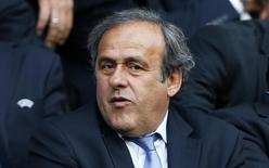 UEFA president Michel Platini in the stands. Action Images via Reuters / Carl Recine Livepic