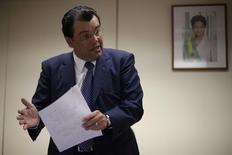 Ministro das Minas e Energia Eduardo Braga  em entrevista à Reuters em Brasília. 21 de janeiro de 2015. REUTERS/Ueslei Marcelino.