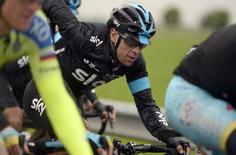 Richie Porte of Australia competes during the 147 Km ( 91 miles) 13th stage of the 98th Giro d'Italia (Tour of Italy) cycling race from Montecchio Maggiore to Iesolo, Italy, May 22, 2015. REUTERS/LaPresse/Fabio Ferrari