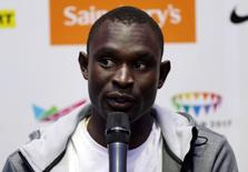 Kenya's David Rudisha during the press conference. IAAF Diamond League 2015 - Sainsbury's Anniversary Games Preview Press Conferences - Grange Tower Bridge Hotel, London - 23/7/15. Action Images via Reuters / Matthew Childs Livepic