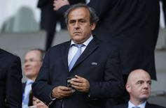 Football - Portugal v Sweden - UEFA European Under 21 Championship - Czech Republic 2015 - Final - Eden Arena, Prague, Czech Republic - 30/6/15 UEFA president Michel Platini in the stands Action Images via Reuters / Lee Smith Livepic