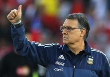 Técnico da Argentina, Gerardo Martino, durante final da Copa América contra o Chile, em Santiago. 04/07/2015 REUTERS/Ivan Alvarado