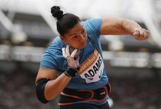 Athletics - IAAF Diamond League 2015 - Sainsbury's Anniversary Games - Queen Elizabeth Olympic Park, London, England - 25/7/15 New Zealand's Valerie Adams in action during shot put Reuters / Phil Noble
