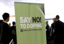 Participants talk before the start of World Anti-Doping Agency (WADA) Symposium for Anti-Doping Organizations in Lausanne, in this March 24, 2015 file photo. REUTERS/Denis Balibouse/Files