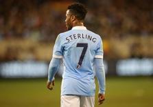 Atacante do Manchester City Raheem Sterling durante amistoso na Austrália.  21/07/2015  Action Images via Reuters / Jason O'Brien