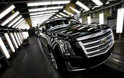 A Cadillac Escalade passes through a final inspection point at the General Motors Assembly Plant in Arlington, Texas June 9, 2015. REUTERS/Mike Stone