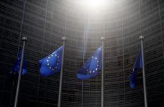 Bandeiras da União Europeia vistas em Bruxelas.   04/07/2015   REUTERS/Francois Lenoir